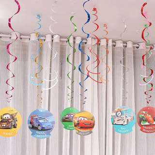 🚘 Lightning McQueen Cars party supplies - Spiral deco / party deco