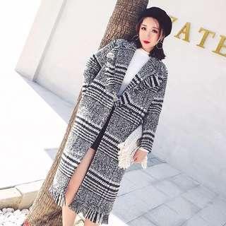 Checker winter coat
