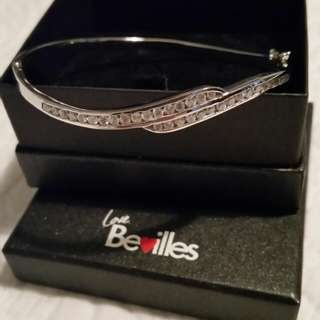 Sterling silver and cubic bangle