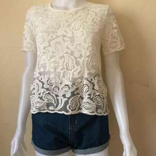 Cute top, lace top
