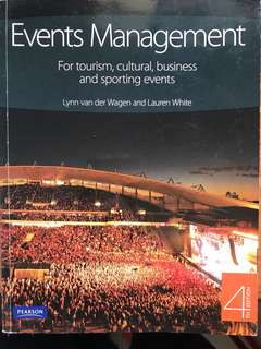 Events Management Pearson Textbook