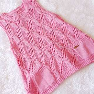 Pink knitted