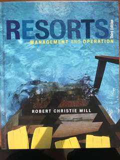 Resorts Management and Operation 3rd Edition Wiley Textbook