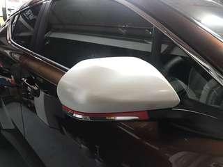 CHR side mirror glossy Pearl white wrap