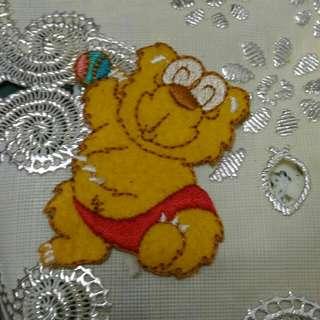 小熊兄弟復古刺繡四個約7公分