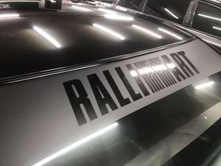 Ralli Art sunshade sticker