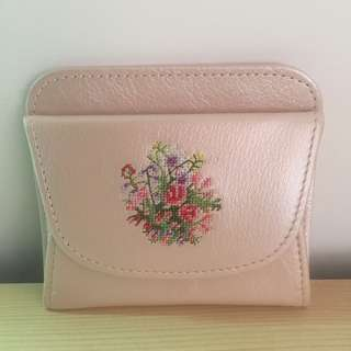 Japanese lady woman Purse Wallet coin Leather - coin and card holder Pink