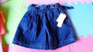 Brandnew hw denim palda short