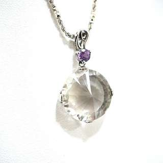 Genuine white crystal pendant