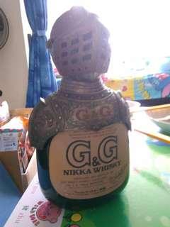 陳年老日威,余市Nikka酒廠出品,西洋武市G&G威士忌760ml,無盒。
