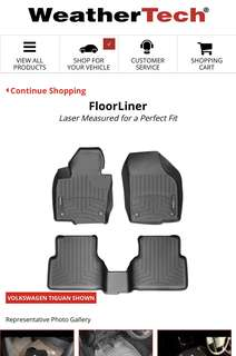 Tiguan 2017 Floor Mat whole set
