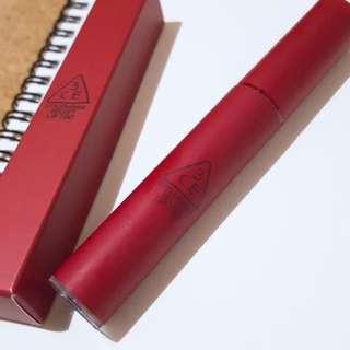 3CE velvet matte liquid lipstick