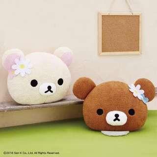 日本景品 鬆弛熊 大頭抱枕一對 Rilakkuma 拉拉熊