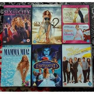 Assorted DVD Movies: Chick Flicks / Musical / Drama / Series
