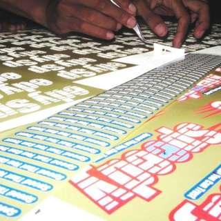 cutting stiker untuk keperluan promosi maupun publikasi