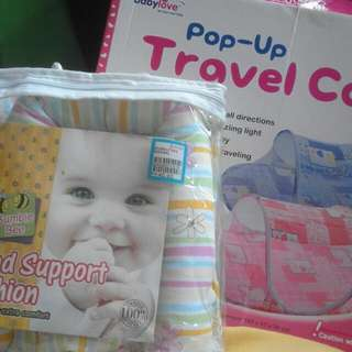 Baby head support & kelambu travel