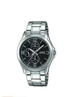 Brand new ,original casio stainless steel watch for men