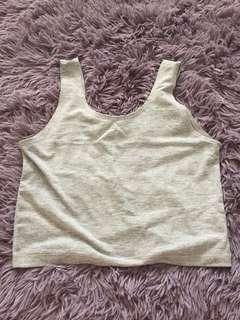 Gray colour short top
