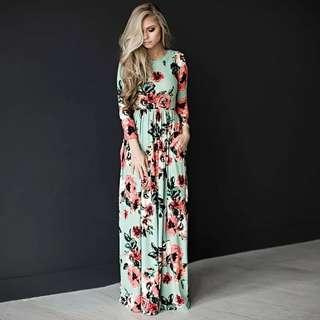 👘Summer Floral Maxi Dress