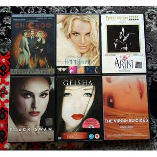 Assorted DVD Movies: Drama / Musical / Thriller