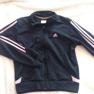 Adidas authentic black and pink jacket