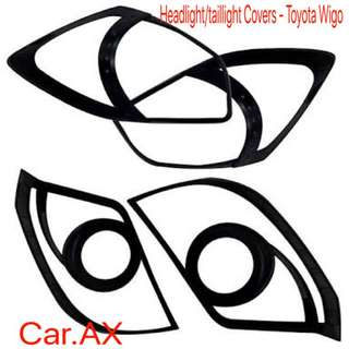 Toyota wigo gen 1 head light tail light cover