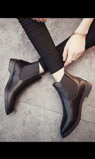 Flat Faux Leather Boots