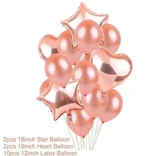 Rose Gold Balloons Set