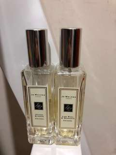 Jo Malone 香水 2for $300(orange blossom&lime basil mandarin)
