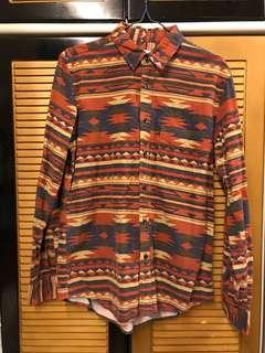 HARE民族pattern shirt