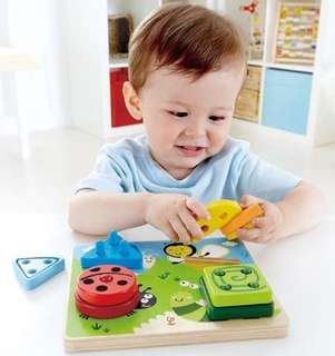 HAPE Germany Award Winning Eco-Friendly Build-A-Bug Wooden Sorter