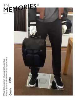 ***ON SALE! 100% Original Coach Men Leather Backpack (Black Only) Ready Stock!!!
