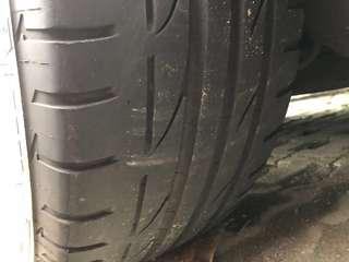"17"" W205 Original Rims With Potenza S001 Run Flat Tyre"