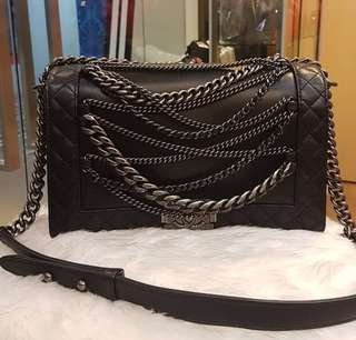 Authentic Chanel Rock Boy Flap Bag