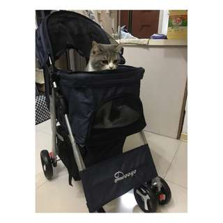 One Button Folding Pets Stroller
