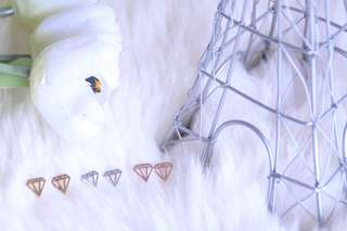 Geometric diamond stainless steel necklace
