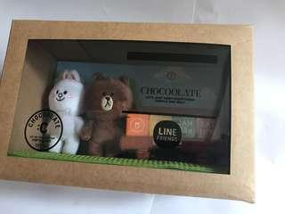 Chocolate x Line Friends 日曆座