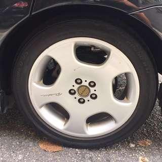 Toyota Wish WALD Original Sport Rim And Tyre 5x100  (4pcs)