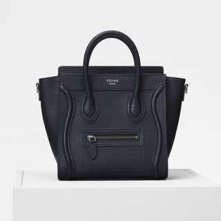 Celine Luggage Nano black