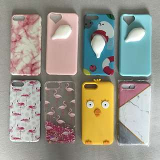 Assorted iphone 7+ phone covers