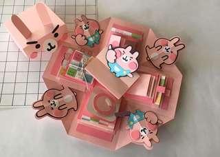 現貨供應❤️手作卡片禮物盒 9個機關 附贈紙袋