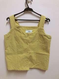 檸檬黃無休上衣