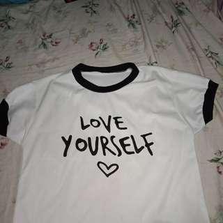 Love Yourself Crop top
