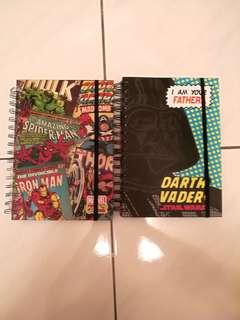 Marvels & Starwars Notebook