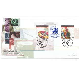 FDC #45 World Stamp Championship 2004