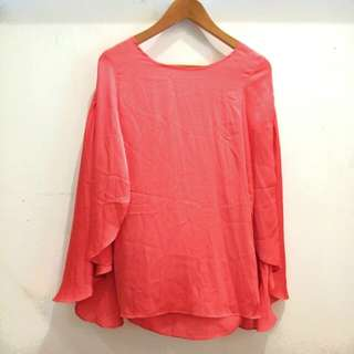 Batwing Cape Blouse Top