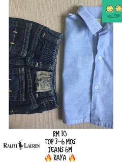 jeans n top for 3-6m