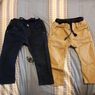 男童5號 深藍加卡其 長褲