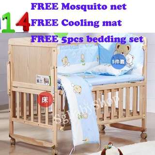 Brand-new wooden baby cot/bed