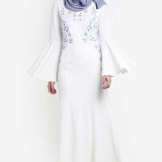 Zalia Floral Embroidery Mermaid Dress